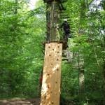 Naturerlebnisgelände - Kletterwand Dschungel-Parcours