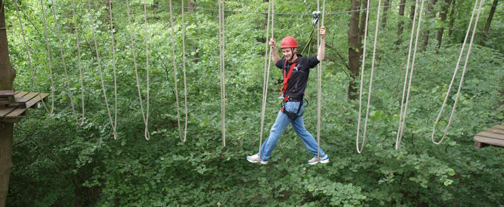 Klettergarten - Seilbrücke